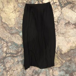 Maxi Skirt- Black sheer with mini skirt lining - L